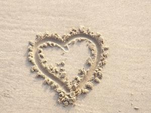 Love Heart in Sand